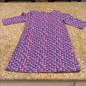 Girls Vineyard Vines 3/4 Sleeve Dress, Size S 7/8
